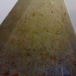 tussenmuur nagemaakt met verf, zand en krijt